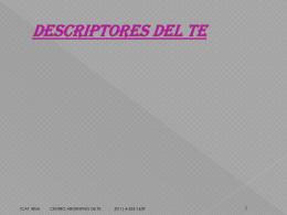 Descriptores Del Te