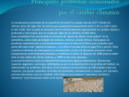 Principales problemas ocasionados por el cambio climatico
