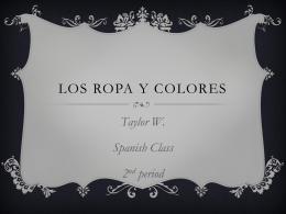 Los Ropa y Colores