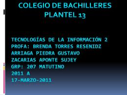 tecnologías de la información 2 profa: Brenda