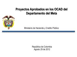 Presentación II OCAD departamental Meta