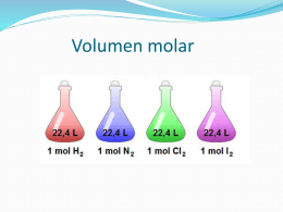 VOLUMEN MOLAR :