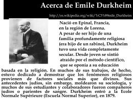 Acerca de Emile Durkheim