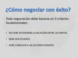 Como Negociar con Exito - CIE Consultora Integral de Empresas