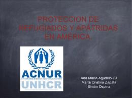 PROTECCION DE REFUGIADOS Y APÁTRIDAS