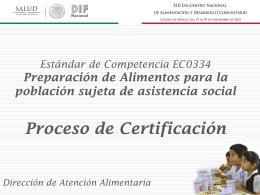 Proceso de Certificación en el EC0334 (SNDIF)