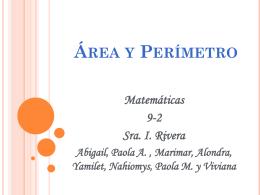 Area y Perimetro