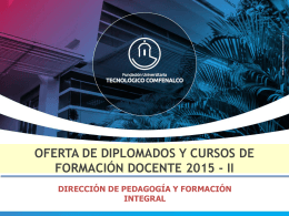 Duración - Fundación Universitaria Tecnológico Comfenalco