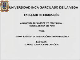 Simón Bolívar - mi centro educativo