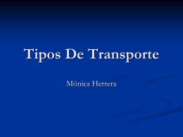 Tipos De Transporte