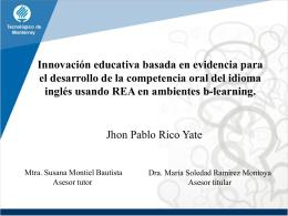 Presentacion tesis maestria Jhon Rico