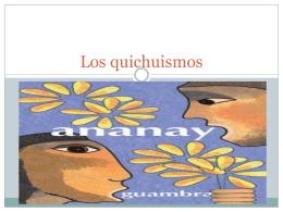 Los quichuismos