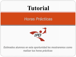 Tutorial Horas Prácticas - video tutorial para campus virtual