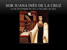 Sor Juana Inés de la Cruz 12 de noviembre de 1651