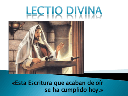 Lectio Divina - Diócesis de Texcoco