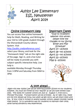 Online Homework Help - Shenandoah County Public Schools