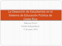 La Deserción de Estudiantes en el Sistema de