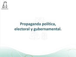 Propaganda gubernamental - Instituto Estatal Electoral y de