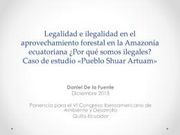 Legalidad e ilegalidad en el aprovechamiento