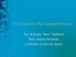 Vocabulario Del Cuerpo Interior