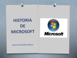 historia de microsoft - TICO