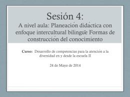 Sesión 4 - Curso-taller Desarrollo de las competencias para la