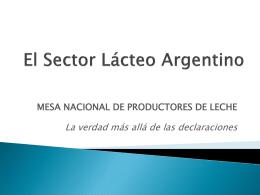 El Sector Lácteo Argentino