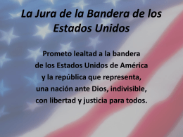 La Jura de la Bandera de los Estados Unidos