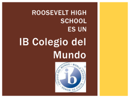(IB) en RHS - Roosevelt High School