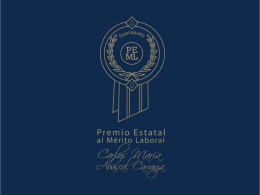 Entrega Premio Estatal al Mérito Laboral 2012