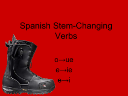 Spanish Stem-Changing Verbs