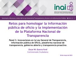 Retos para homologar la información pública