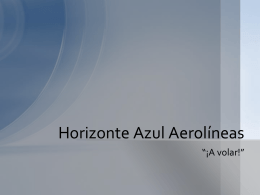 horizonte azul aerolineas