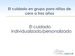 El cuidado individualizado/personalizado