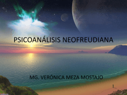 PSICOANÁLISIS NEOFREUDIANA