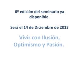 6ª edición del seminario ya disponible. Será el 14