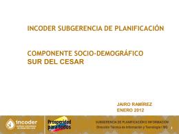 Sur del Cesar - Social Incoder