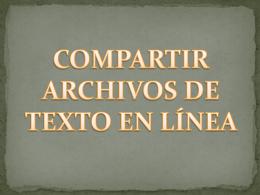 Como publicar archivos de Texto