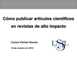 Cómo publicar artículos científicos en revistas de alto impacto