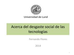El desgaste social de las tecnologías
