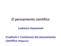 El pensamiento científico Geymonat ppt