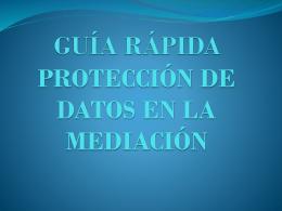 GUIA RAPIDA SOBRE PROTECCION DE DATOS