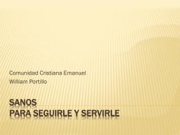 Sanos para servirle - Comunidad Cristiana Emanuel