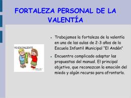 FORTALEZA PERSONAL DE LA VALENTÍA