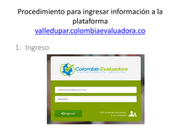 Procedimiento para ingresar información a la plataforma valledupar