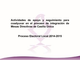 Presentación informativa de la reunión de trabajo entre la Dirección