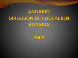 anuario direccion de educacion agraria 2009