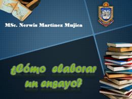 Como elaborar Ensayos - Maestría Tecnologia Educativa Unefa