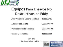 Equipos Para Ensayos No Destructivos de Eddy