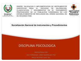 Socialización Nacional de Instrumentos y Procedimientos